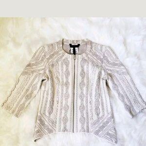 NWOT BCBG Whiteney Jacquard CardiganSweaterJacket